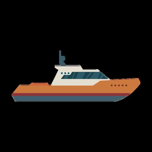 Icono de barco de crucero de cabina Transparent PNG