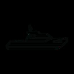 Línea de barco de crucero de cabina