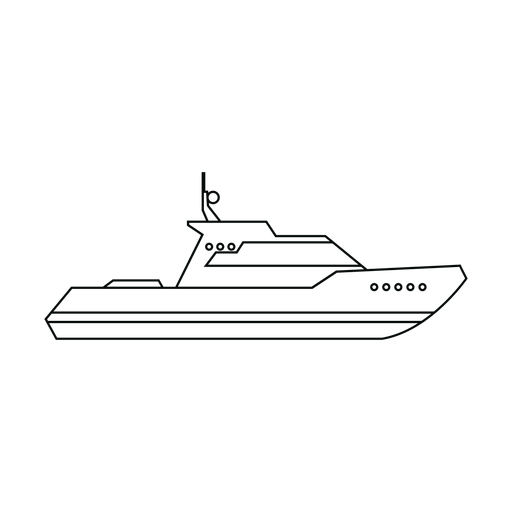 Cabin cruiser boat line Transparent PNG
