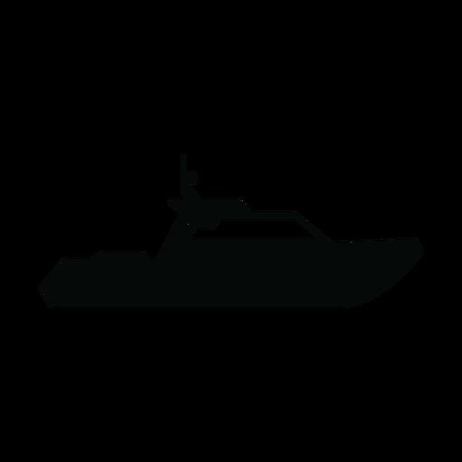 Cabin cruiser boat silhouette