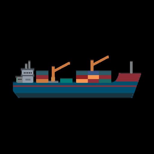 Icono de buque de carga Transparent PNG