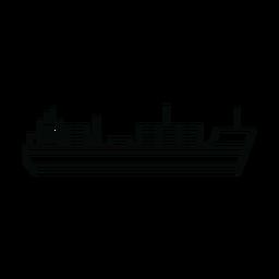 Linha de navio de carga