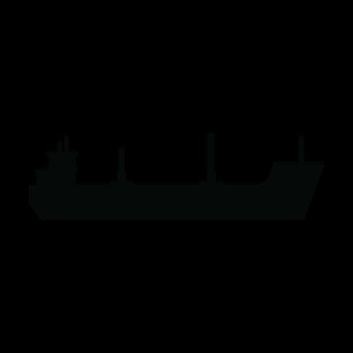 Cargo ship silhouette Transparent PNG