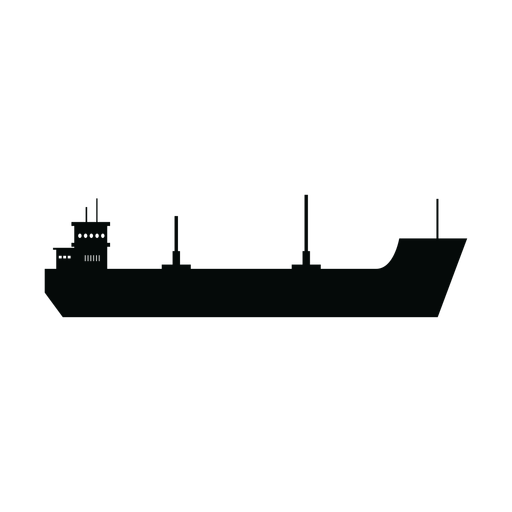 Silueta de la nave de carga Transparent PNG