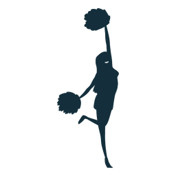 Cheerleader cheering silhouette