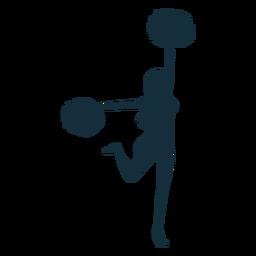 Animadora bailando silueta