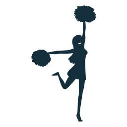 Cheerleader dancing silhouette