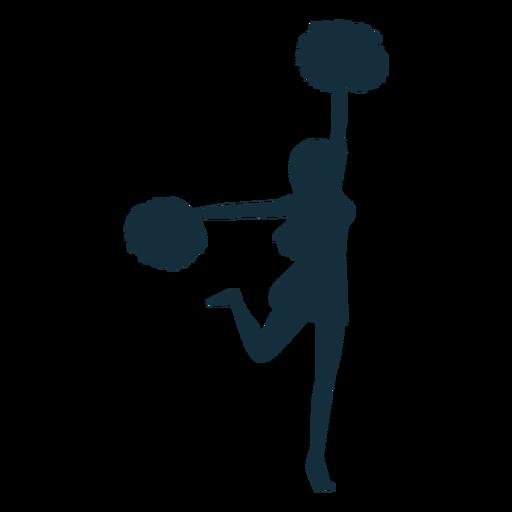 Animadora bailando silueta Transparent PNG