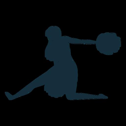 Cheerleader girl silhouette Transparent PNG