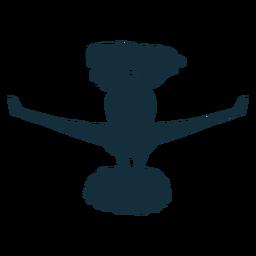 Cheerleader jump silhouette