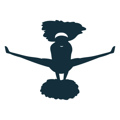 Cheerleader jump silhouette Transparent PNG