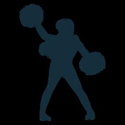 Cheerleader bewegen Silhouette