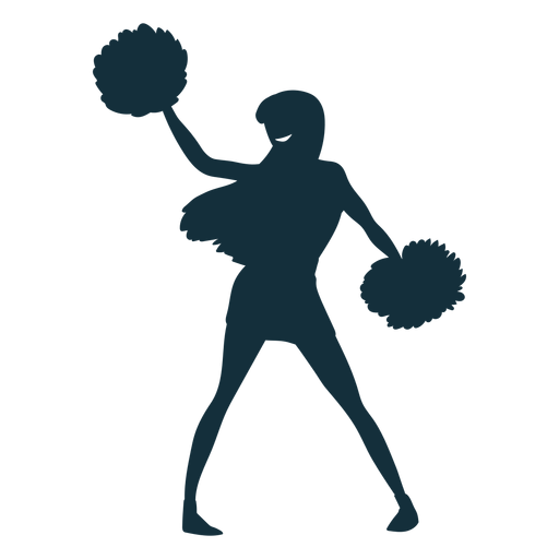 Cheerleader bewegen Silhouette Transparent PNG
