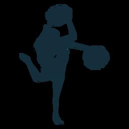 Cheerleader, der Schattenbild durchführt