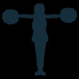 Animadora pose silueta