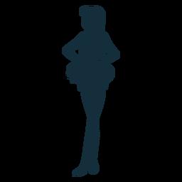 Líder de torcida em pé silhueta