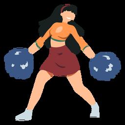 Cheerleader mit Pompons