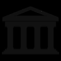 Edificio de la universidad clásica plana