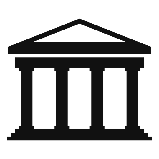 Classical university building flat Transparent PNG