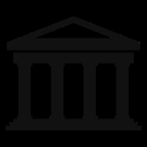 Edificio de la universidad clásica plana Transparent PNG