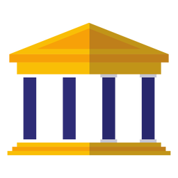 Classical university building icon