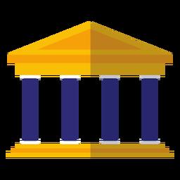 Universidade clássica edifício ícone