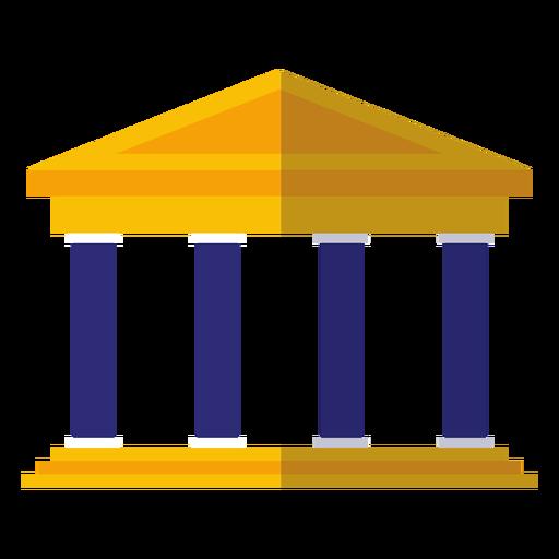 Classical university building icon Transparent PNG