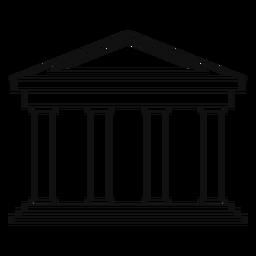 Línea de construcción clásica universitaria.