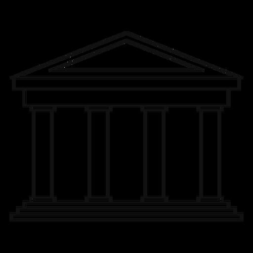 Classical university building line Transparent PNG