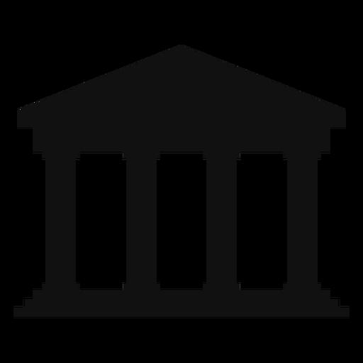 Classical university building silhouette