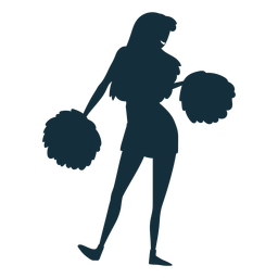 College cheerleader silhouette