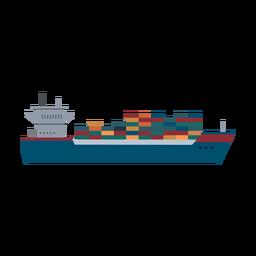 Icono de barco de contenedores