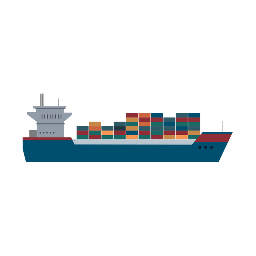 Container ship icon Transparent PNG