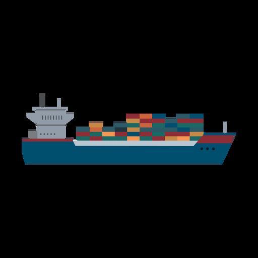 Icono de barco de contenedores Transparent PNG