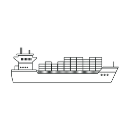 Línea de barco de contenedores