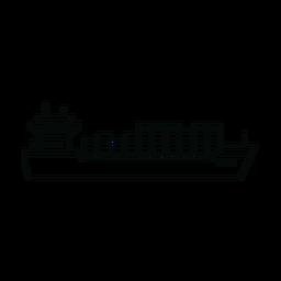 Linha de navio porta-contentores