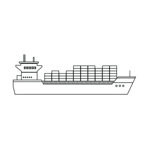 Container ship line Transparent PNG