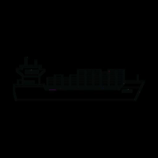 Línea de barco de contenedores Transparent PNG