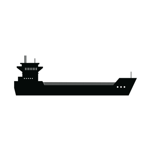 Container ship silhouette Transparent PNG