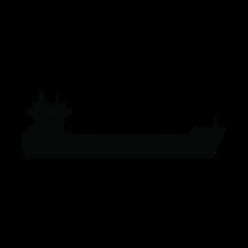 Silhueta de navio porta-contentores Transparent PNG