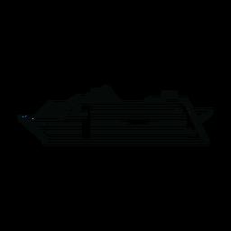 Linha do navio de cruzeiro