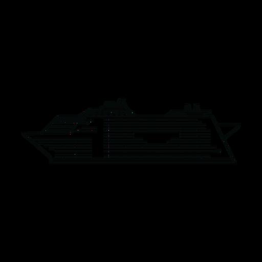 Cruise ship line Transparent PNG
