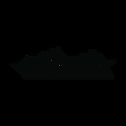 Silhueta de navio de cruzeiro