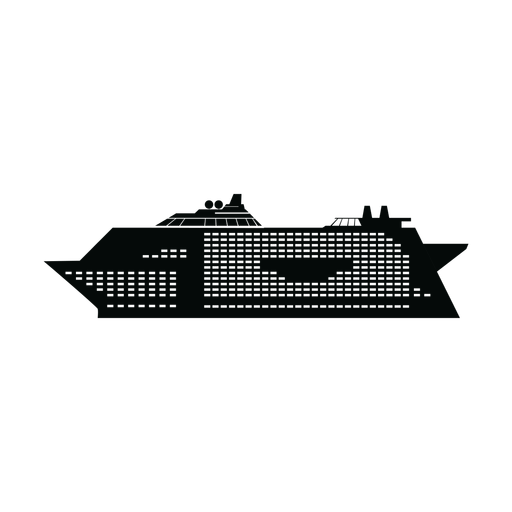 Cruise ship silhouette Transparent PNG