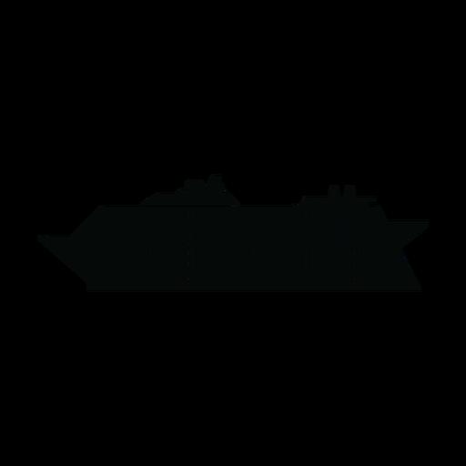 Silhueta de navio de cruzeiro Transparent PNG