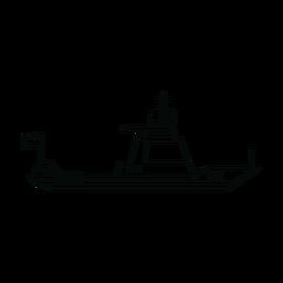 Línea de barco de crucero
