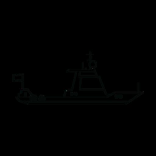 Cruiser boat line Transparent PNG