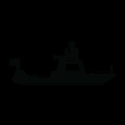 Silueta de barco de crucero