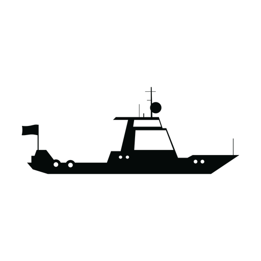 Cruiser boat silhouette Transparent PNG