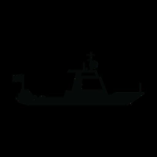 Silueta de barco de crucero Transparent PNG